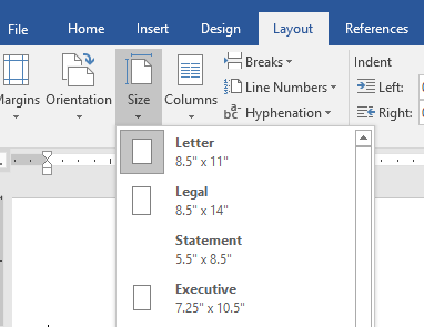showing inches in MS Word