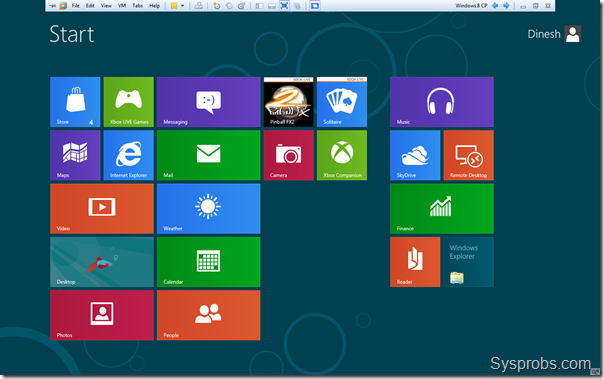 Windows 8 consumer preview on VMware
