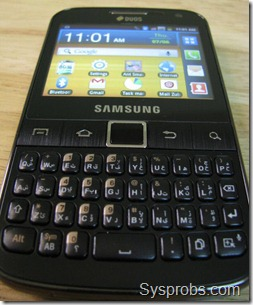 phone front view with working screen
