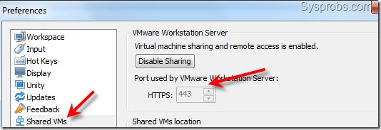 enabled vm share