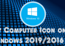 Show My Computer Icon on Windows 2019/2016 & 2012 R2 Servers