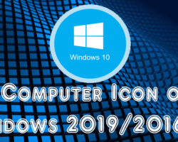 My Computer Icon On Windows 2019 Server