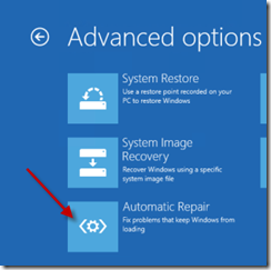 advanced startup repair windows 8