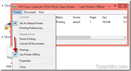 Dec 02,  · a) Go to Control Panel, then select Devices and Printers. b) Double-click on the icon of the printer you want to change to online. A pop-up window detailing all current print jobs will open. c) Go to