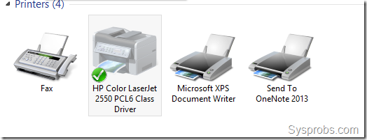 Windows 8 printers