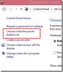 power button options