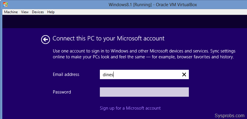 Create a MS account