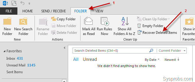 recover deleted folder