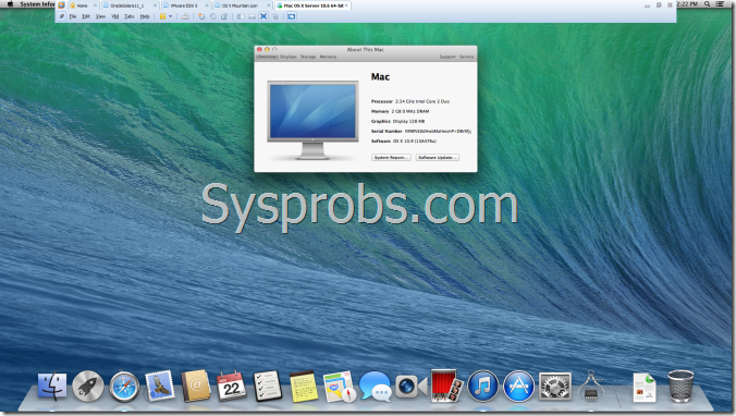 full screen mode of OS X 10.9 in Vmware workstation
