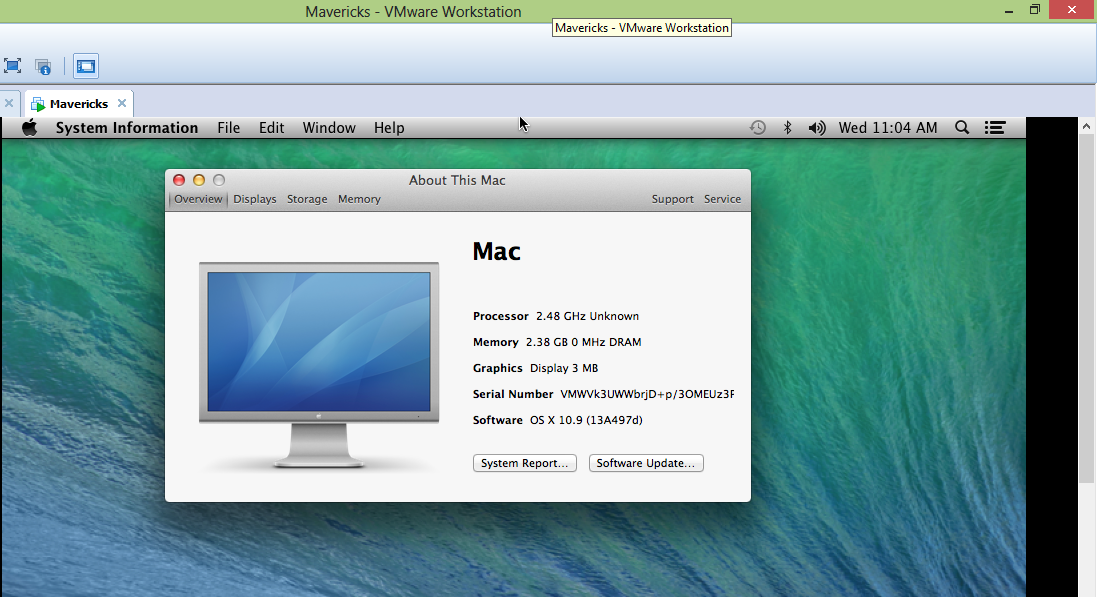 how to use os x 10 9 mavericks vmware image in windows 8  8 1 and windows 7 techmasters Intel Play Software Driver Intel Play QX3