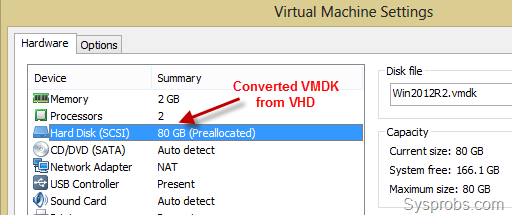 attach vmdk to machine