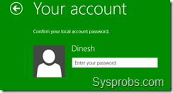 old user account in windows 8.1