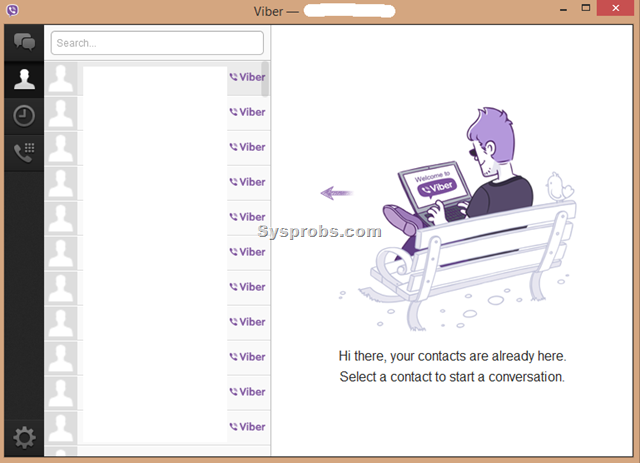 how to delete contacts from viber desktop