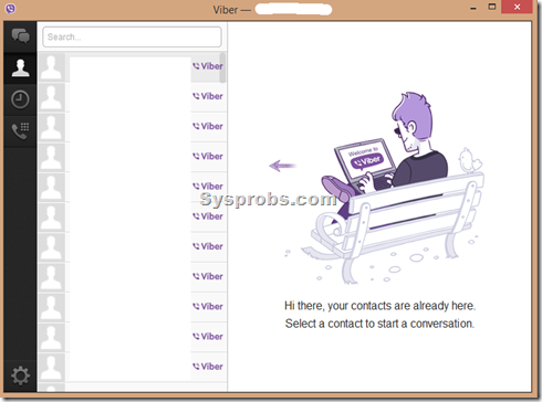 Sync contacts in viber