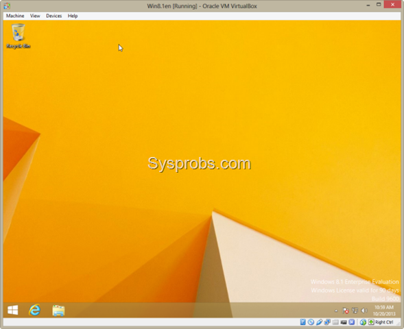 Working Windows 8.1 on VirtualBox