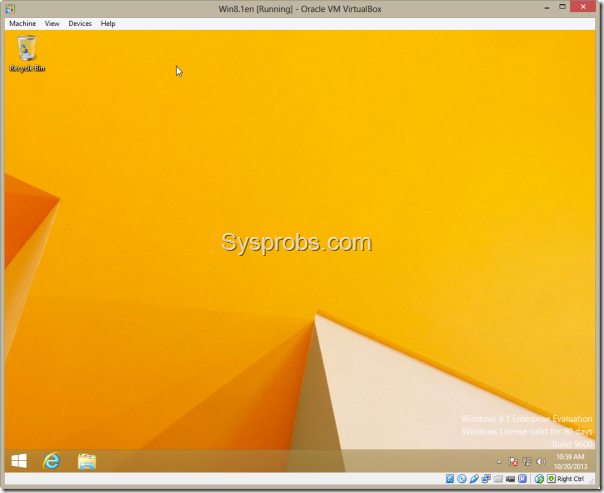 working windows 8.1 on virtualbox 4.3