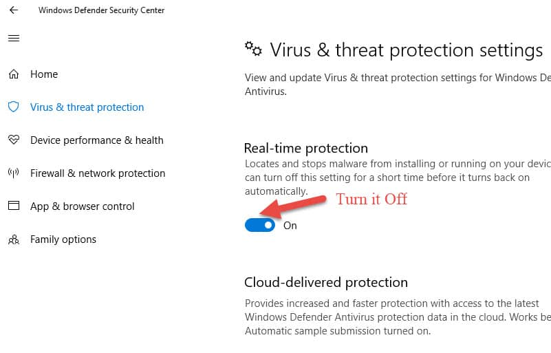 Disable Windows Defender On Windows 10