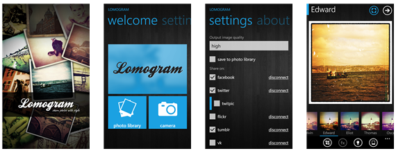 Lomogram for Windows phone OS