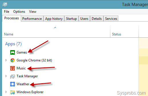 close apps in windows 8 by task manager