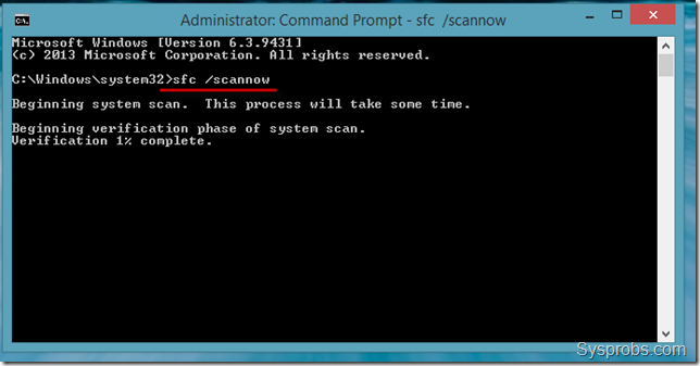 sfc scan in windows 8 to fix Temporary Profile Windows 8