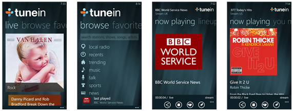 tunein radio best windows phone apps 2014
