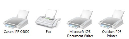 disabled printers on Windows 8.1