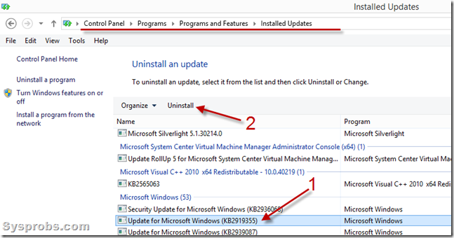 uninstall Windows 8.1 update