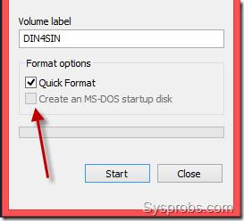 option disabled in windows