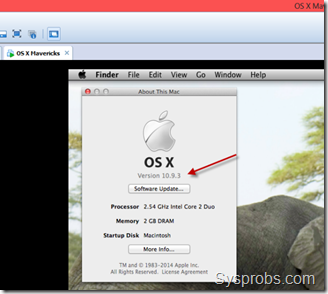 os x 10.9.3 on vmware