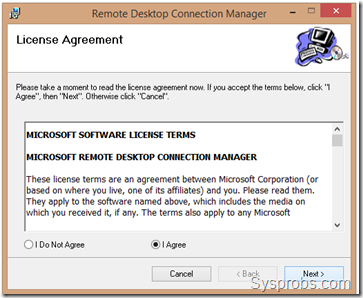 remote desktop manager installation in Windows 8.1