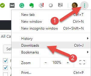 View Downloads In Chrome Windows 10