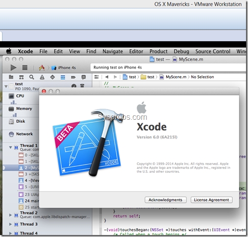 Working Xcode 6 on Windows 8