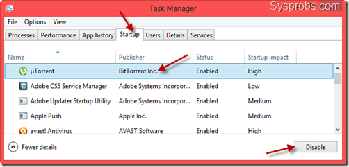 remove startup programs in Windows 8.1