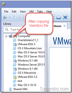 After moving VMware inventory file