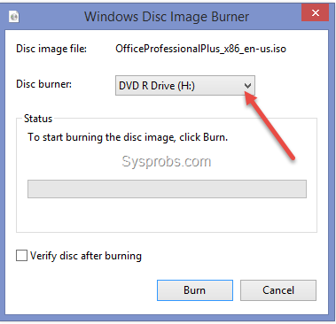 How to write iso images to dvd