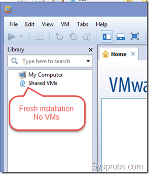 No VMs on the new installation