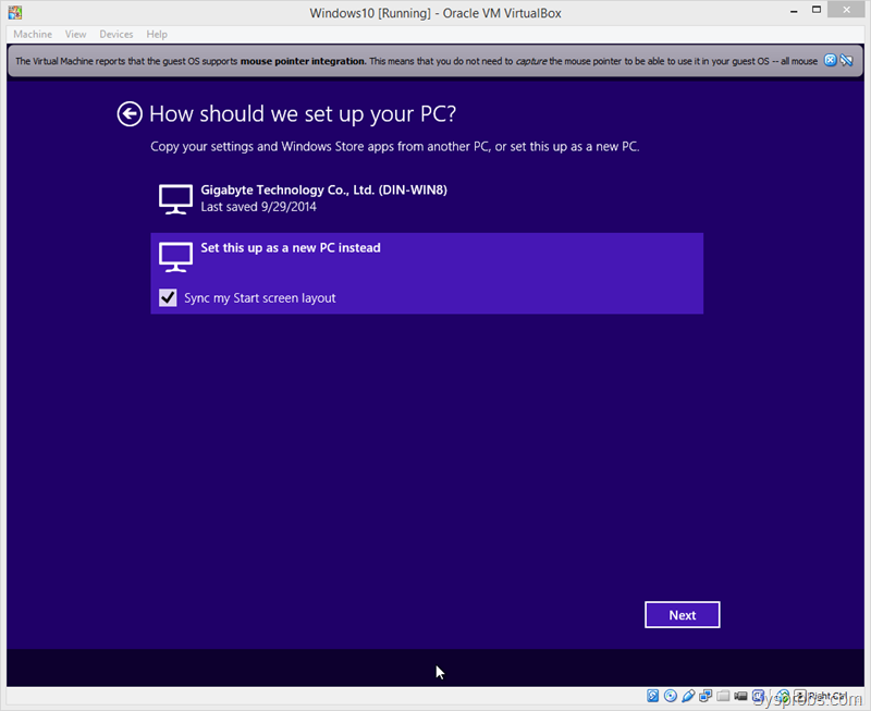 Install Windows 10 on VirtualBox and It's Guest Additions