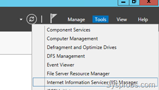 Open IIS in Windows 2012 R2