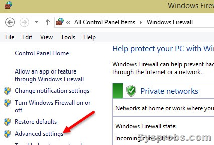 how to allow incoming connections windows 7