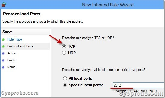 how to make a port listen in windows server