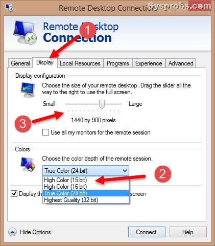 rdp settings in windows 81