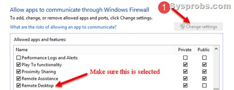 enable rdp in firewall