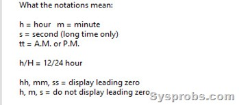 time format notations