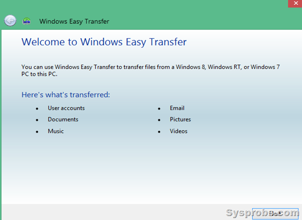 Windows easy transfer to move files from Windows 8.1 to Windows 10