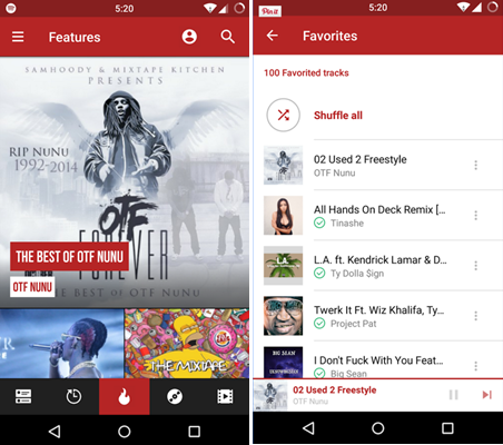 free mixtapes for Android