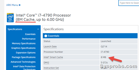 Intel L3 cache from Windows 10 PC