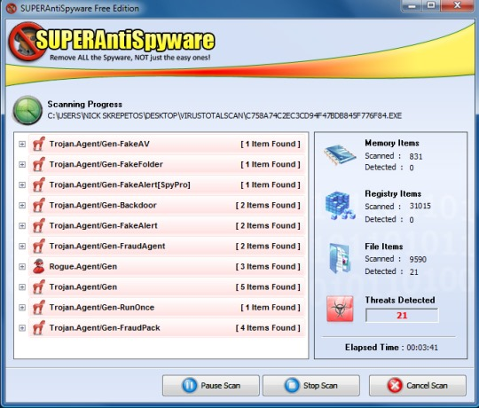 superantispyware for windows 10 free tool