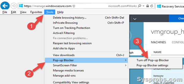 how to enable popups in explorer