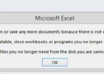 [Excel 2019, 2016, 2013 – Fixed] Microsoft Excel Cannot Open or Save Any More Documents Because there is Not Enough Available Memory or Disk Space