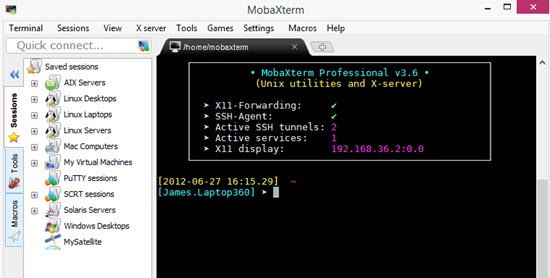 MobaXterm SSH client with many tools for Windows